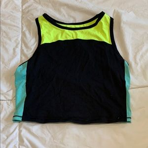 Neon workout crop top